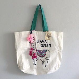 Handbags - Llama Queen 🦙 NWT Canvas Tote